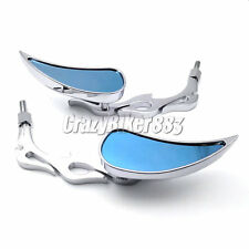 Teardrop Flame Rearview Mirrors For Harley Dyna Softail Sportster Touring XL883