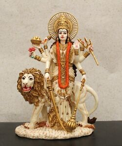 Durga Maa Statue with Lion Best Gift for Mothers Day Women Strength Home Decor