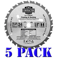 CMT K02407 ITK Contractor Framing/Decking Saw Blade 5 Pack, 7-1/4 x 24 Tooth