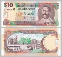 Barbados 10 Dollars 2007 p68a unz.