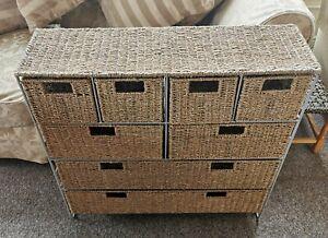 Sea grass 8 Drawer Storage Unit