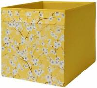 4 x IKEA Drona Yellow Floral Patterned Expedite Kallax Shelving Toys Storage New