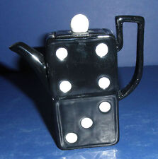 Fitz & Floyd Domino Mini Teapot- New in Box- Retired- 94/1012 Special Teas
