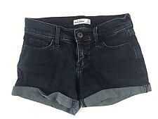 Ambercrombie Kids Girls Dark Blue Wash Denim Jean Shorts Size 14
