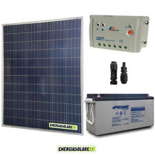 Kit Starter Plus Pannello Solare 200W 12V Batteria AGM 150Ah  Regolatore PWM 20A