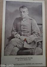 Impériale aviateur photo AK capitaine Boelke duché de Brunswick opfertag