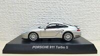 1/64 Kyosho PORSCHE 911 TURBO S SILVER diecast car model