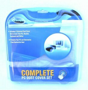 """iConcepts Complete PC Dust Cover Set Monitor 15""""&17"""" Keyboard Computer Printer"""