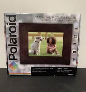 "Polaroid 8"" Digital Picture Frame w 7.9"" Screen & Wood Frame PDF-800CD"