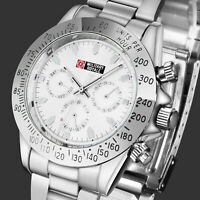 Military Royale Mens Watch Automatic Silver Stainless Steel Strap Analog Army