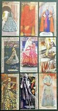 India 2020 Fashion series 4 Costumes Dress complete Set of 9 Stamps MNH