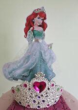 ARIEL DISNEY PRINCESS. Little Mermaid  Cake topper handmade 7 inches Sparkles 💖