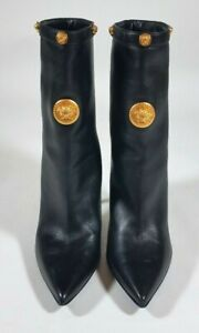 VERSACE KITH Black Leather Medusa Boots GIFT