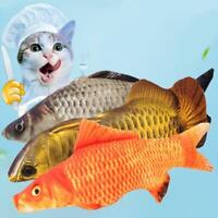 Cat Wagging Fish Realistic Plush Toy Simulation Catnip Gift for Pet Chewing AU 1
