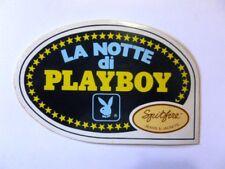 VECCHIO ADESIVO ORIGINALE /Old Sticker SEXI GIRL PLAYBOY RABBIT BUNNY (cm 13x8)