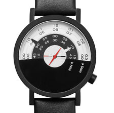 Projects Watches Quarzo Acciaio Nero Rosso Bianco Pelle Orologio Pilot Unisex