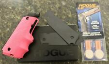 Hogue Laser Enhanced Grip 1911 Govt Pink Rubber Grip 45 9mm 22 38 Springfield