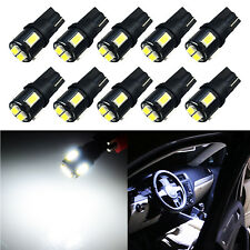 JDM ASTAR 10x T10 Xenon White 5630 SMD LED Lights Bulbs 194 168 175 W5W 2825 192