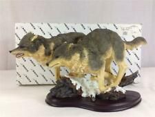 2 Wolves Wolf Polyresin Figurine Statue Model By Gsc 54007