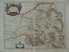 MAPPA TERRITORIO DI BERGAMO 1640 IMAGNA BREMBANA SERIANA SCALVE LARIO S.MARTINO