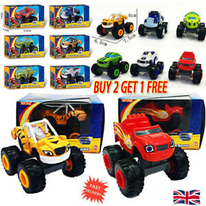 6PCS Blaze and the Monsters Machines Vehicles Diecast Toy Racer Cars Trucks Kids