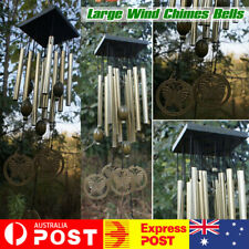 Large Wind Chimes Bell Stainless Butterfly 12 Tube Outdoor Windchime Yard Garden
