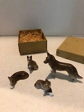 Vtg Porcelain Figurines Set Miniature Family Animals 1920s Germany Wolves wolf