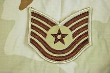 Military Patch US Air Force Desert Tan Color Technical Sergeant TSgt Rank
