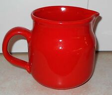 """WAECHTERSBACH SOLID COLOR RED PITCHER  5 3/8"""" x 5""""  W.Germany"""