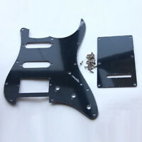 Guitar Pickguard Back Plate Trem Cover for Fender Strat Stratocaster Black