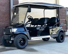 GOLF CART CLUB CAR BLACK LIFTED CUSTOM LIMO ELECTRIC VEHICLE 6 PASSENGER