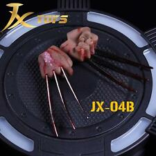 1/6 Wolverine Logan metal Claw W/ Blood Hands Realistic Hair For Hot Toys ❶USA❶