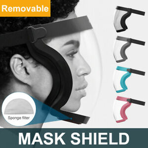 Shield Full Face Mask Cycling Sport Anti-Fog Protective Transparent+ Filter Chip