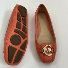 NWB Michael Kors  Moccasin  Flats Shoes in Coral 8M Driving