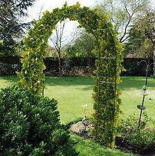 2 X NEW SELF ASSEMBLY GARDEN METAL ARCH FOR CLIMBING PLANTS ROSES TRELLIS FREE P