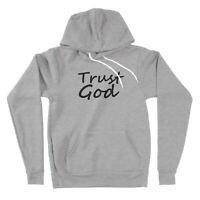 Sweater Pullover Hoodie Unisex Print Trust God Positive Trust