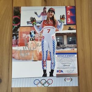 Mikaela Shiffrin Signed 8x10 Photo COA PSA/DNA #AJ22114 Autographed