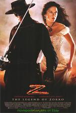 LEGEND OF ZORRO MOVIE POSTER 3rd Adv. Style + ELEKTRA BNS! Catherine Zeta Jones