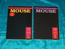 THE UNCENSORED MOUSE # 1 & 2, 1989, Eternity Comics, MICKEY MOUSE , FINE - VF