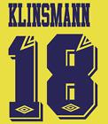 Tottenham Hotspur Klinsmann Nameset Shirt Soccer Number Letter Heat Football A