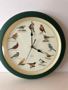 Young Town Bird Sounds Wall Clock Vintage Quartz - Bird Song Every Hour