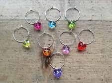 Hen party wine glass charms 8 Hearts Wedding Valentines Handmade BBQ dinner