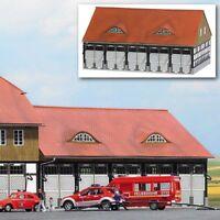 Spur N Busch 8241 Fahrzeughalle Feuerwehr Schwenningen  - Bausatz - OVP - NEU