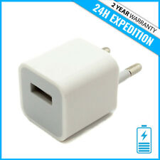 A1265 2-PIN EU USB MURAL CHARGEUR PRISE ADAPTER WALL CHARGING AC PLUG CHARGER