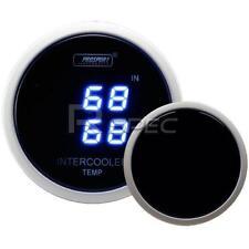 Prosport Blue Dual Digital Intercooler Air Intake Temperature Gauge Deg C 52mm