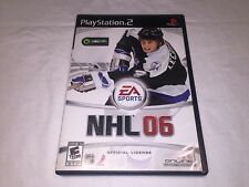 NHL 06 - Hockey Game (Playstation PS2) Black Label Original Complete Excellent!