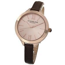 Stuhrling Vogue 975 Women's 38mm Brown Calfskin KRYSTERNA Quartz Watch 975.04