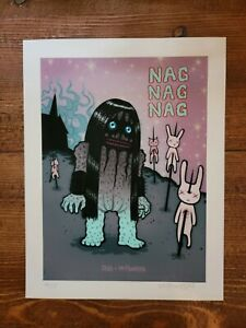 Shig x Tara McPherson Nagnagnag Zombie Ice Baby Print 9/25 Signed Mishka