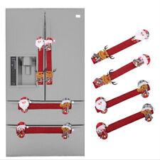Navidad Puerta Del Refrigerador Manija Cubierta Protector De Guante De Electrodomésticos De Cocina T
