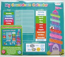 "FIESTA CRAFTS MAGNETIC ""MY COUNTDOWN CALENDAR"" - 43cm X 38cm - BRAND NEW!!"